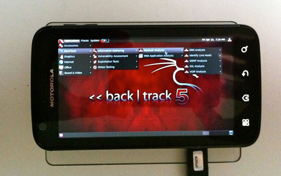 backtrack5 on motorola