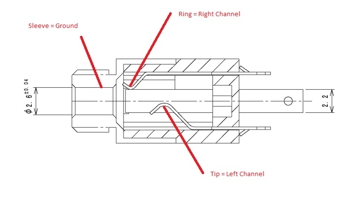 3 5mm 4 pole audio jack wiring pinout free download