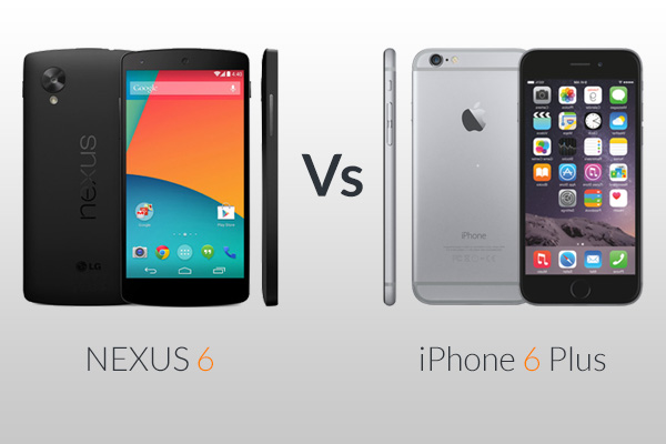 iphone vs nexus 6