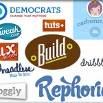 Diverse trends of web logo design