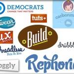 Diverse trends of web logo design