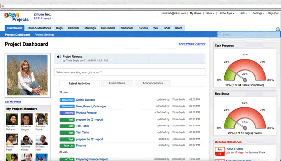 Zoho Projects Platform