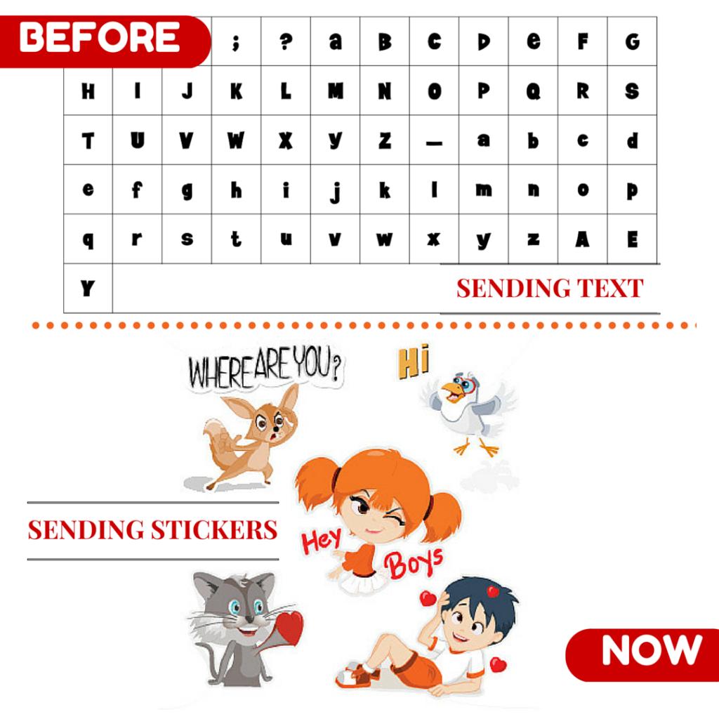 Sending Text VS Sending Stickers