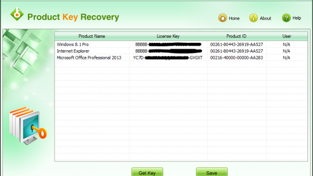 product key recovery license key
