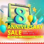 Everbuying is currently celebrating its 8th anniversary with a sale!