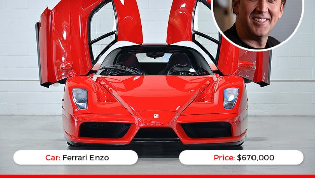 Most Expensive Sports Cars Owned By Celebrities Infographic