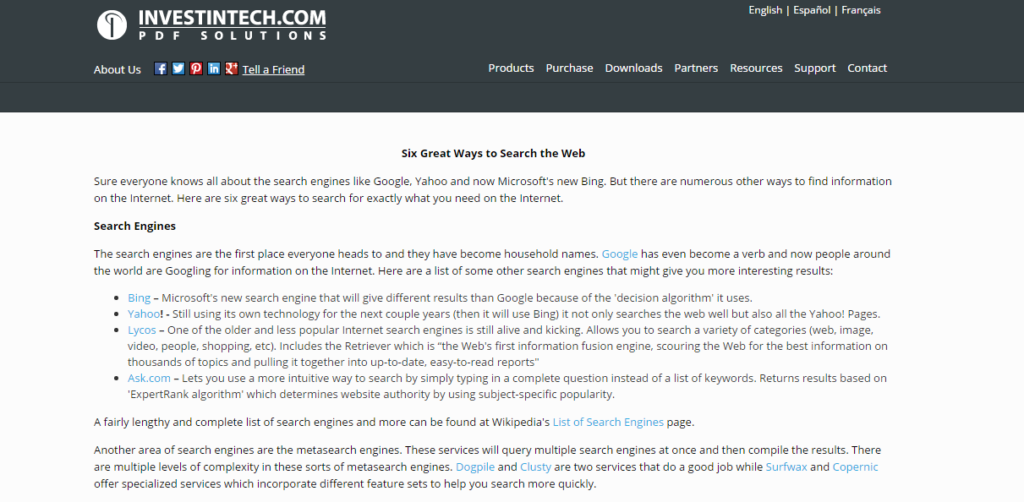 11. Six Great Ways to Search the Web
