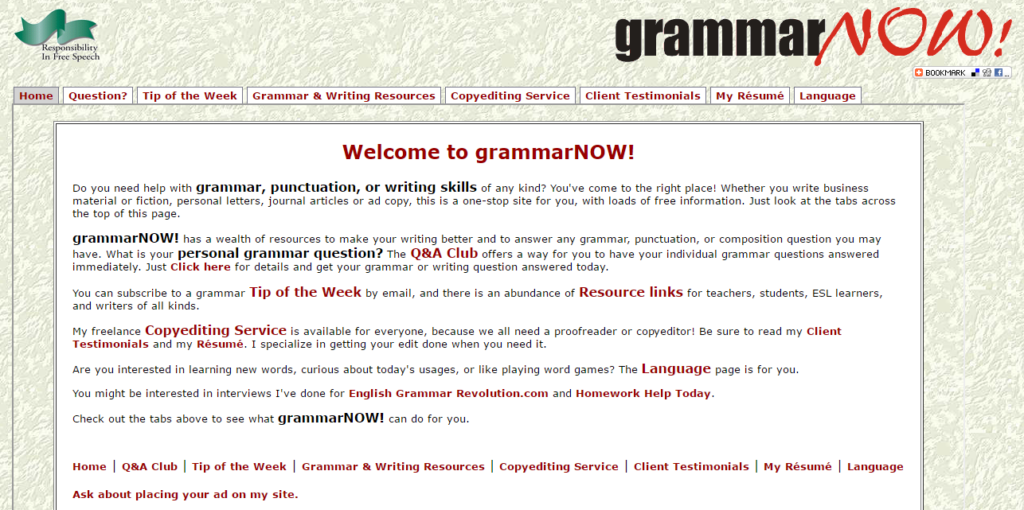 6. Grammar Now