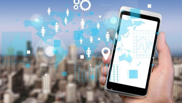 Internet things iot smart map data sending