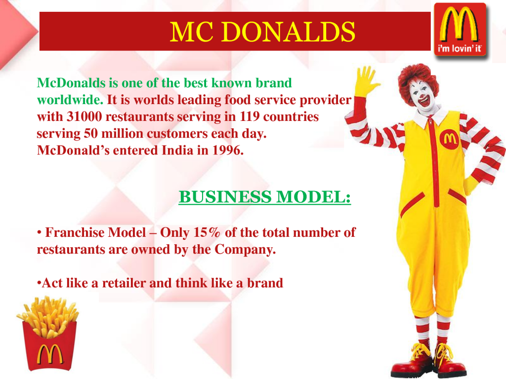 success of mcdonald s Great branding is crucial in the fast food industry  are two of the ways that mcdonald's became so affect the fast food industry [key success.