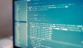Closeup photograph of web site codes on computer monitor.