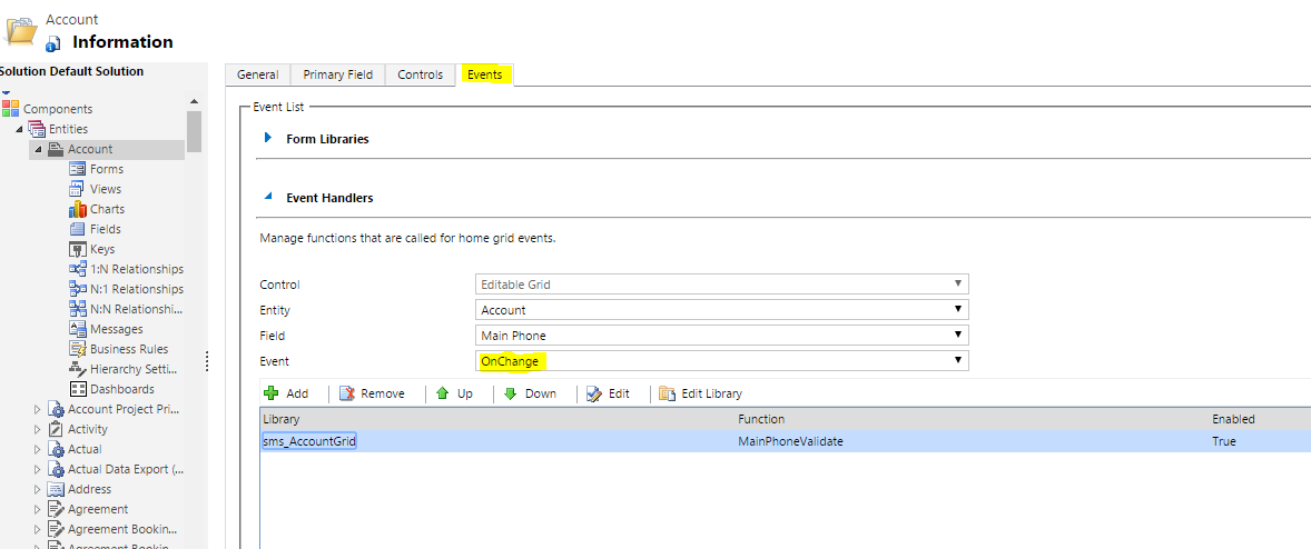 Understanding Events & Validations in Editable grids of CRM