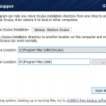 vrBackupper – Backup Freeware for Oculus Rift