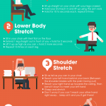 7 Exercises You Can Do Right In Your Chair! [Infographic]