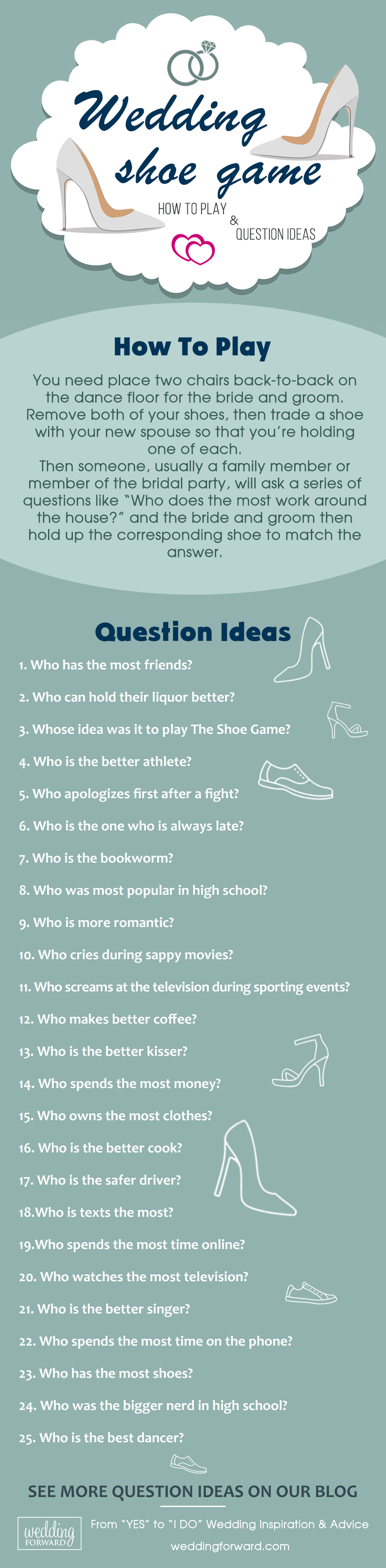 the shoe game how to play and question ideas
