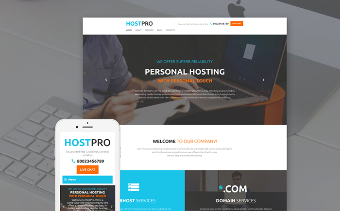 Web Hosting Services WordPress Template