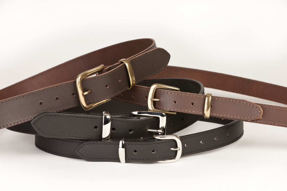 Duty belts are generally wider than dress belts, and are stiffer to better provide for the carry of heavy items such as pistols. It is common military practice for such a belt to be a symbol of authority or to indicate that the wearer is on duty.