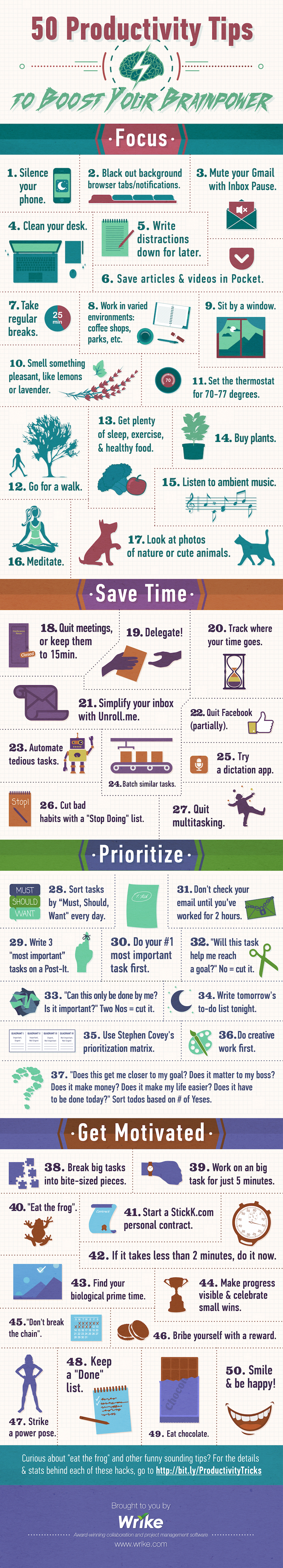 50 Productivity Tips to Boost Your Brainpower