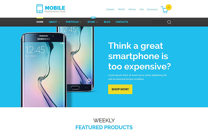 Mobile Phones WooCommerce Template