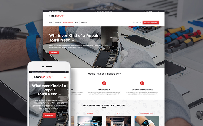 Computer Repair WP Theme