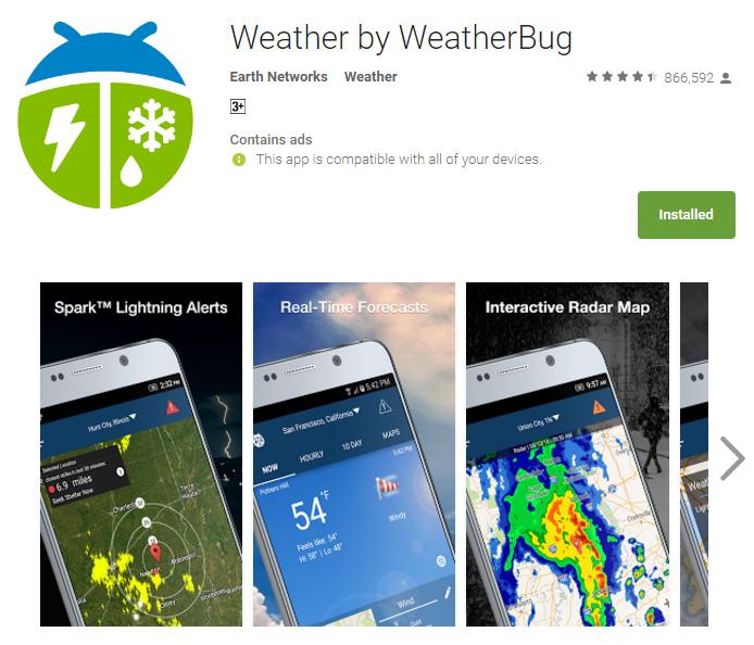 Free Weatherbug App For Iphone
