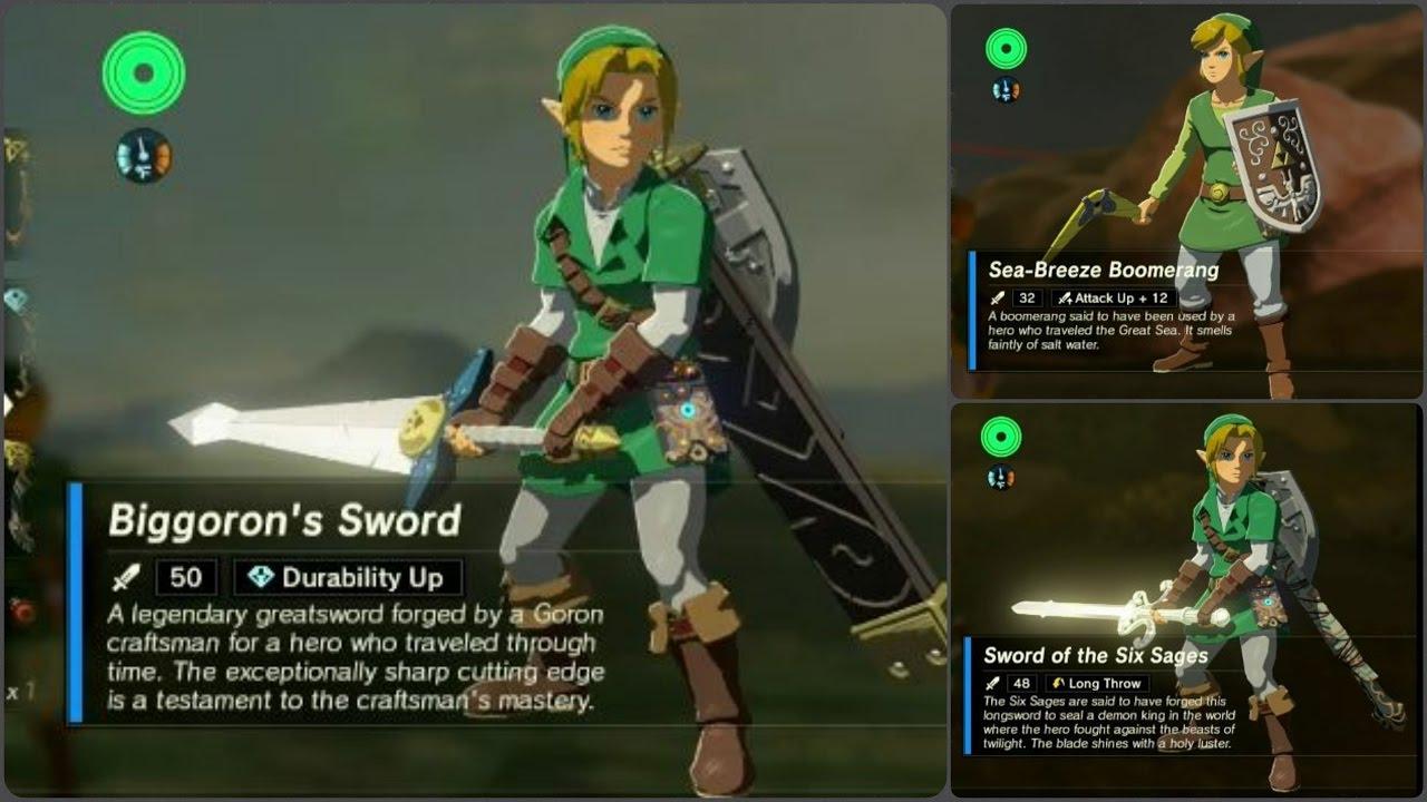 Swords – Legend of Zelda Breath of the Wild | Techno FAQ