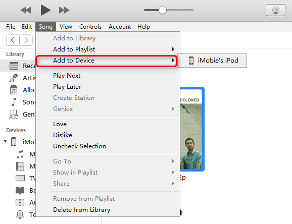 How to Transfer Music from Windows Music Player to iPhone/iPod/iPad - Step 3