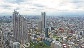 Japan Tokyo Skyscraper Building City Urban