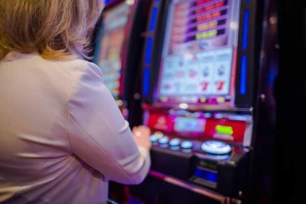 Woman Playing Video Games in the Las Vegas Casino (Image: Shutterstock)