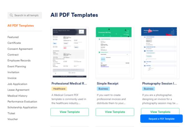 JotForm PDF Editor Templates
