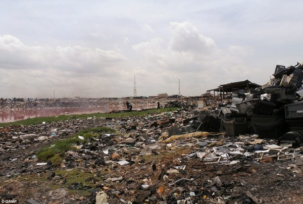 Dumped e-waste in Africa