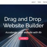 Futuristic Drag and Drop Website Builder 2019 – 8b Review