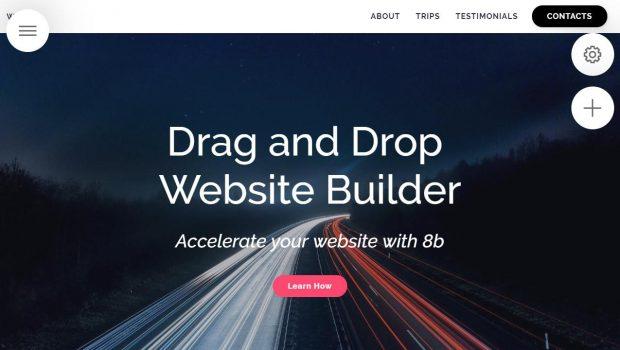 Futuristic Drag and Drop Website Builder 2019 – 8b Review