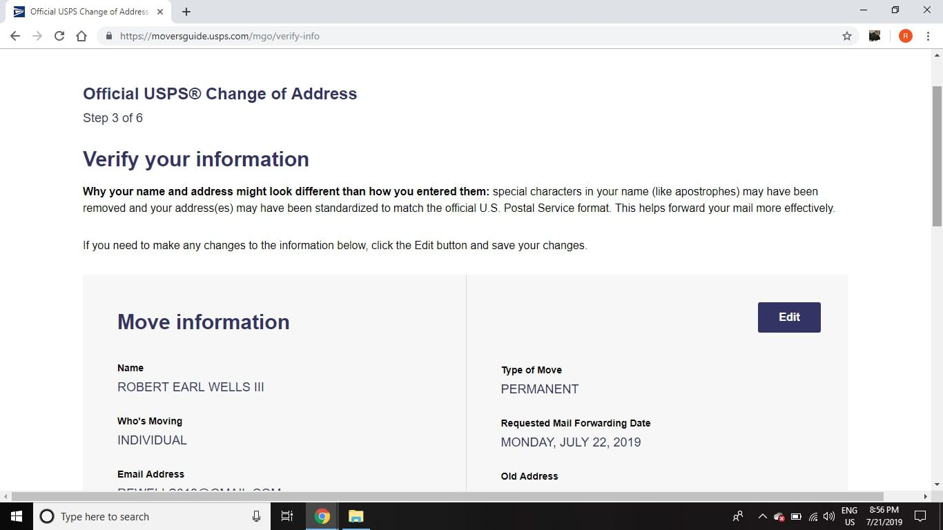How To Change Your Post Office Address