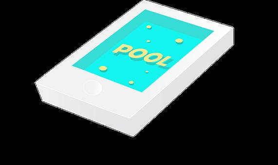 Phone, Pool, The Swimming Pool, Water