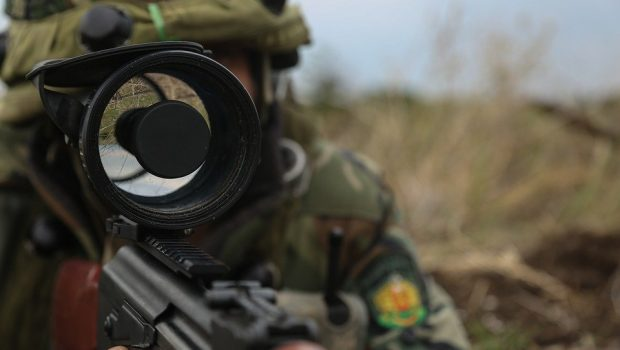 Romanian Soldier, Night Vision, Scope, Rifle, Soldier