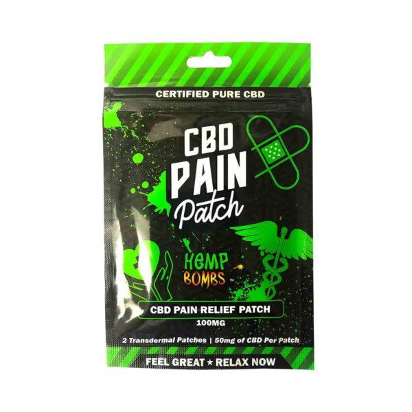 HempBombs, CBD Pain Patches, 2 count, 100mg of CBD