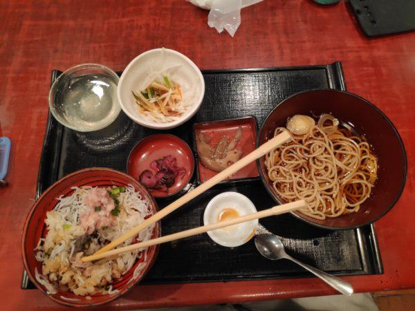 Eating at a traditional restaurant in Kamakura, Kanagawa Prefecture, Japan