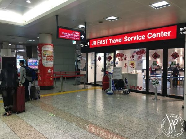 JR East Service Centre at the Narita Airport