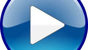 Audio, Play, Sound, Start, Video, Button, Glossy, Blue