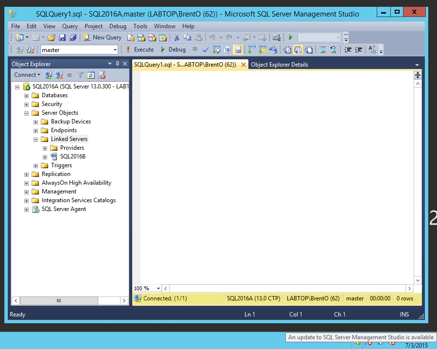 An Update to SQL Server Management Studio is Available - Brent ...