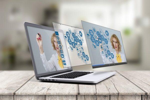 Laptop, Prezi, 3D Presentation, Mockup