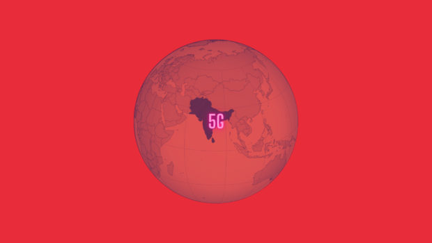 5G, South asia map