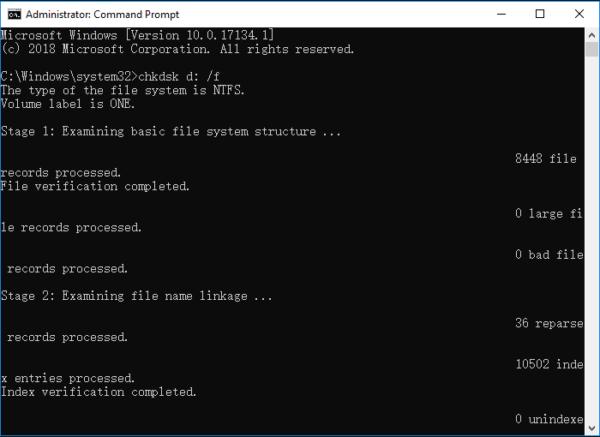 fix format disk error with cmd